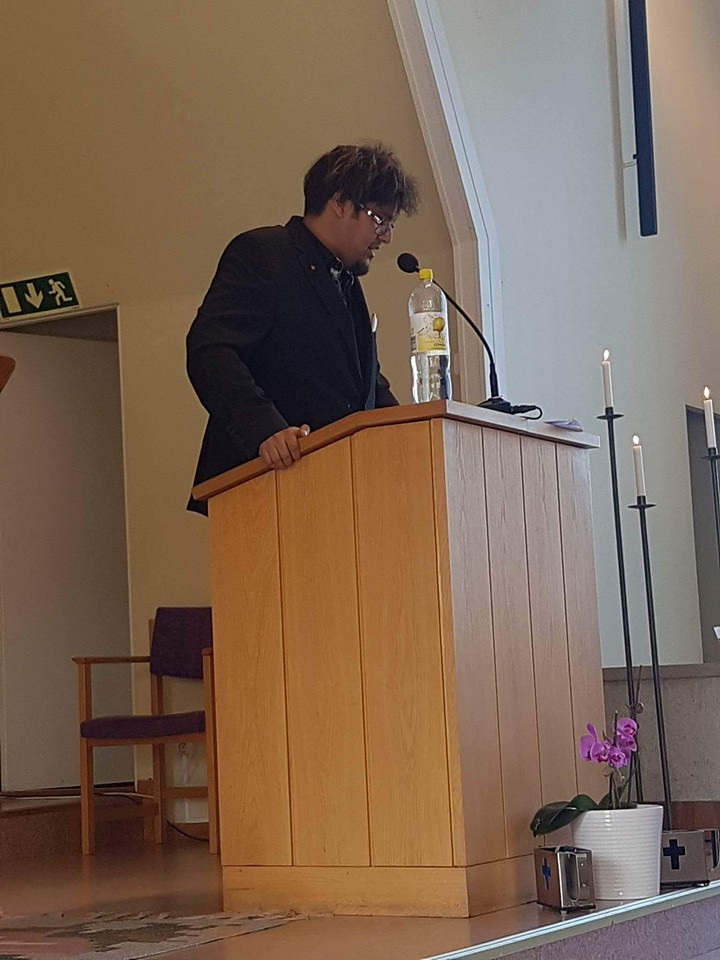 PO Flodström predikar Pingstkyrkan Oskarshamn