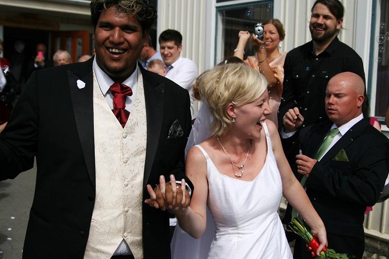 Bröllop mellan P-O Flodström och Annie Flodström